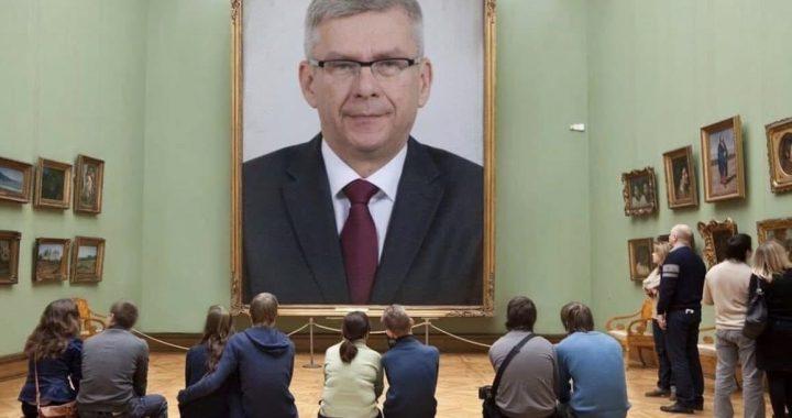 Gigantyczny portret marszałka Karczewskiego! Kosztował 7700 zł. To jednak…