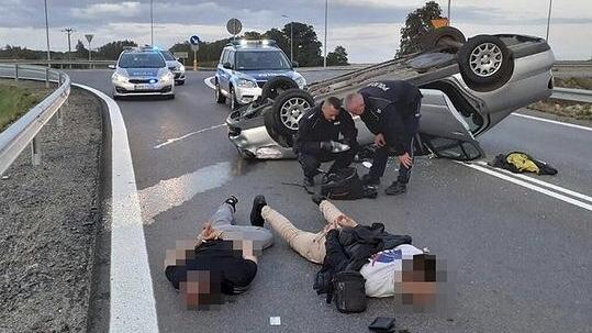 POŚCIG za kierowcą pod wpływem narkotyków! Wideo.