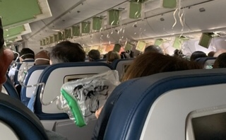 MAKABRA na pokładzie samolotu! Pasażerowie…