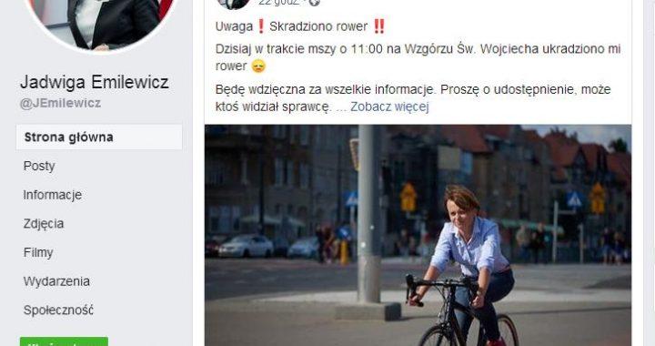 Złoczyńco! Oddaj rower Pani Minister!