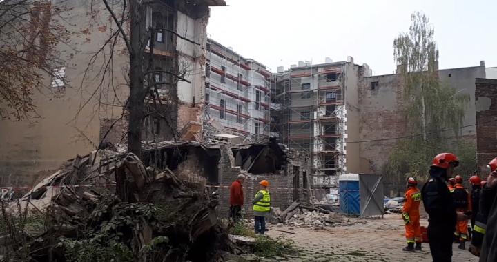 Dramatyczne sceny w Łodzi! ZAWALIŁA się kamienica! Nowe informacje