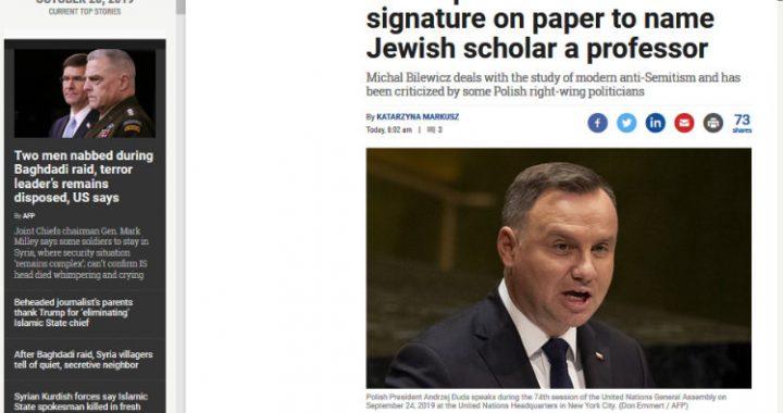 Polski ambasador broni prezydenta Dudę przed zarzutami antysemityzmu i argumentuje, że żona prezydenta jest pochodzenia…