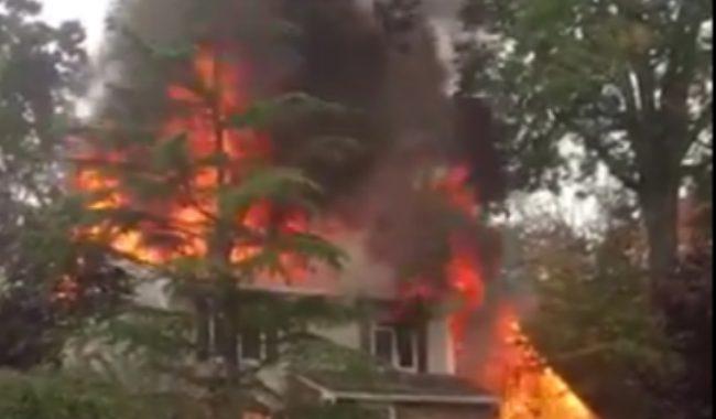 Dom polskiej rodziny w USA stanął w płomieniach!!! Chwilę wcześniej uderzył w niego… (wideo)