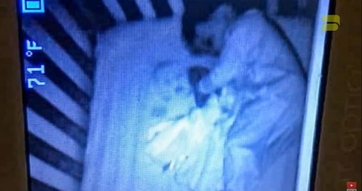 Położyła synka do snu. W nocy kamera zarejestrowała coś przerażającego!