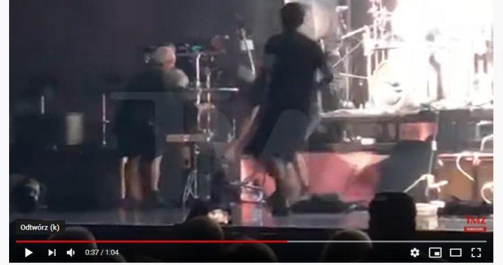 WYPADEK na scenie supergwiazdora! TO mogło skończyć się tragicznie! Mamy VIDEO!