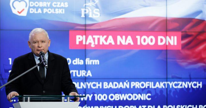 """Wybory 2019: """"Piątka na sto dni"""" – nowe obietnice Prawa i Sprawiedliwości"""
