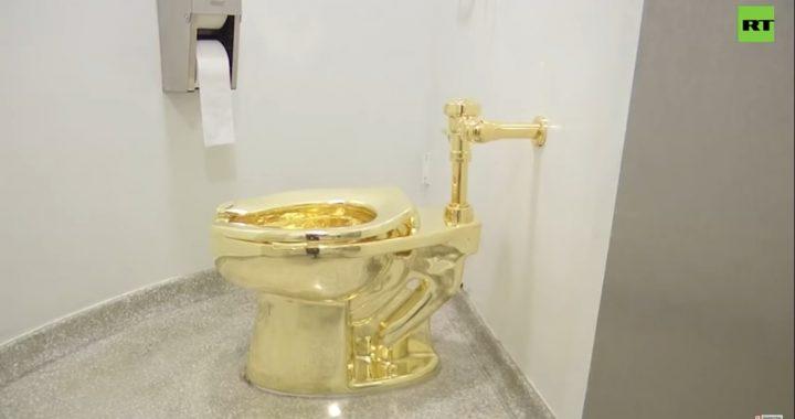 Ukradli złoty sedes warty fortunę! Policjanci wiedzą kim są złodzieje!