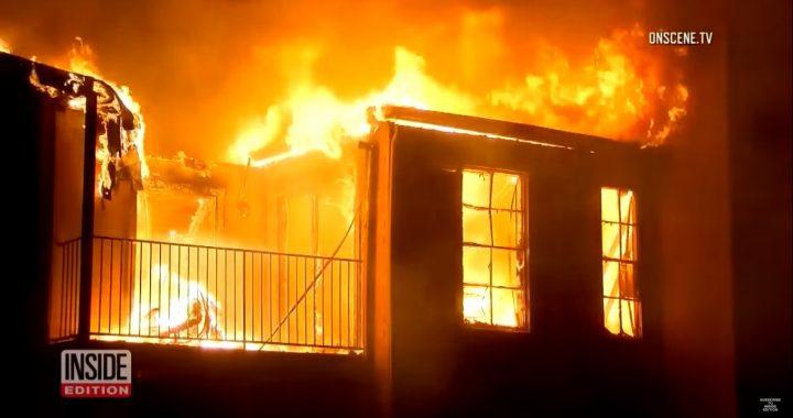 Dziecko uwięzione na 3 piętrze płonącego budynku. Matka zachowała się jak (…)!