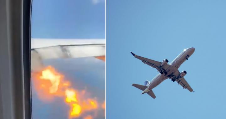 Samolot w POWIETRZU zajął się OGNIEM! Przerażające nagranie z kabiny pasażerskiej obiegło świat!