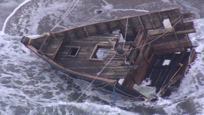 Morze wyrzuciło łódź na brzeg. W środku odnaleziono ludzkie głowy