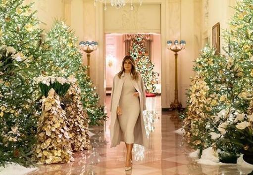 Tak wygląda wystrój świąteczny BIAŁEGO DOMU! Jest spektakularny![FILM]