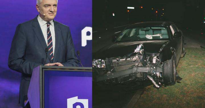 Gowin miał wypadek a za kierownicą siedział…