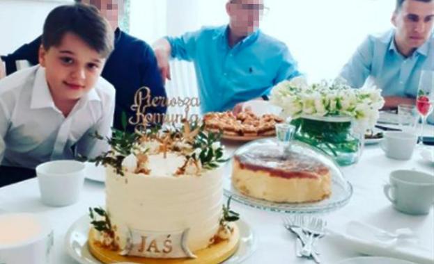 Syn Anny Przybylskiej przyjął pierwszą komunię! Zobaczcie, jak wyglądał tort!